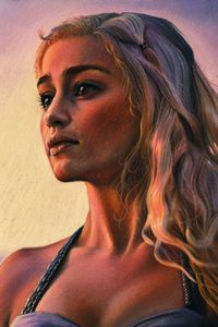 Daenerys Emilia Clarke 5k Artwork