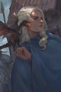 720x1280 Daenerys Targaryen 4k Art