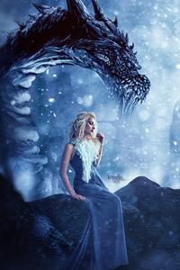 Daenerys Targaryen Dragon Fantasy Art