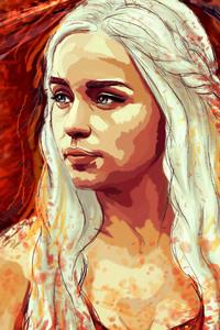 240x400 Daenerys Targaryen Game Of Thrones Artwork