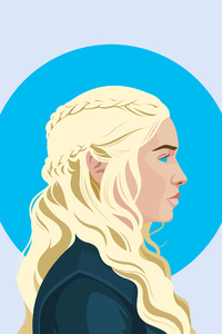 Daenerys Targaryen Illustration 4K 2018