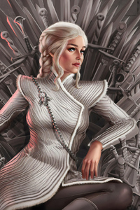 540x960 Daenerys Targaryen Sitting On Throne