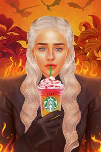 480x854 Daenerys Targaryen Starbucks