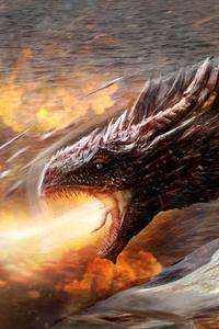 Daenerys Targaryen With His Dragon