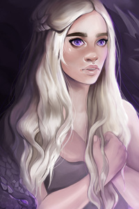 Daenerys Targayen With Dragons Artwork 5k
