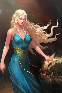 480x854 Daenerys Targryen Got 4k