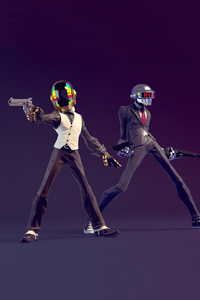 480x800 Daft Punk Do You Feel Lucky 4k