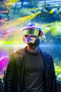 480x800 Daft Punk Helmet 4k