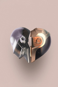 Daft Punk Helmets Minimal 5k