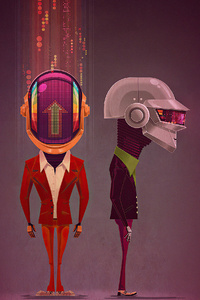2160x3840 Daft Punk Robotic 4k