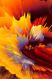 Damage Colors Abstract