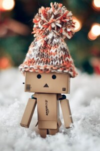 640x1136 Danbo Christmas