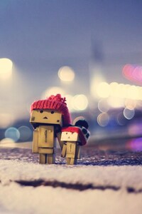 640x1136 Danbo In Winter Dress