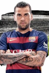 1080x2160 Daniel Alves FC Barcelona