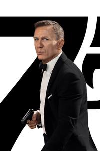 1080x2280 Daniel Craig As James Bond No Time To Die