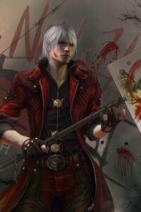 Dante Anime Fan Art 4k