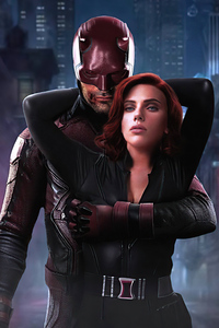 Daredevil And Black Widow 4k
