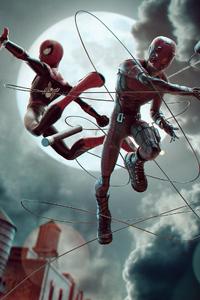 Daredevil And Spiderman Art