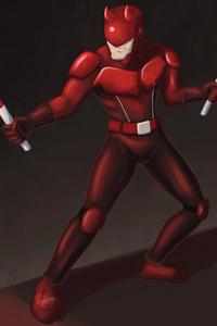Daredevil Cartoonic Art 4k
