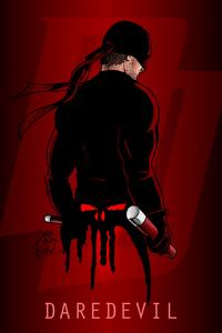 DareDevil Illustration Poster