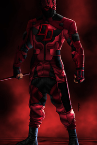 1125x2436 Daredevil Ninja 4k Artwork