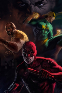 640x1136 Daredevil Team 4k