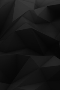 Dark Abstract Black Low Poly