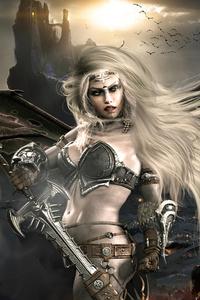 Dark Angel With Sword