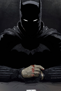 750x1334 Dark Batman 4k