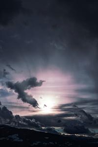 Dark Clouds Sky 5k