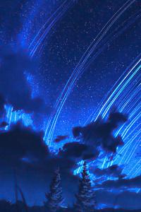 Dark Clouds Stars Long Exposure 4k