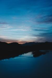 Dark Evening Lake 5k
