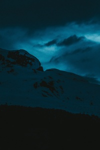 360x640 Dark Evening Snow Covered Mountains 5k