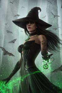 720x1280 Dark Fantasy Witch 5k