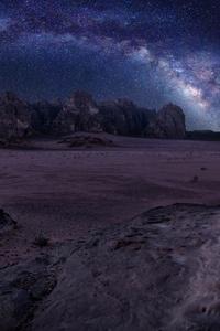 Dark Galaxy Stars Landsacpe Night 5k
