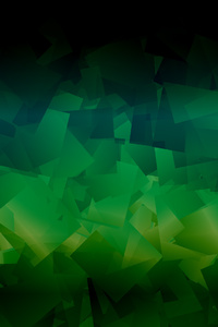Dark Green Abstract Shapes 4k