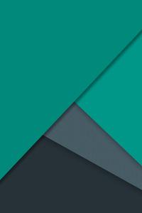 640x1136 Dark Green Material Design