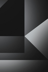 Dark Grey Abstract Shapes 4k