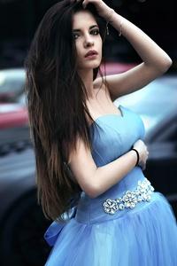 1080x1920 Dark Hair Dress Hands In Hair 8k