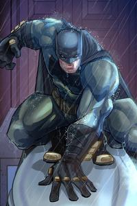 540x960 Dark Knight Comic Artwork 5k