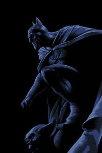 1242x2688 Dark Knight Illustration 5k