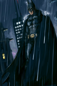 Dark Knight Paint Art