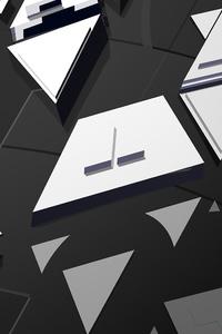 480x854 Dark Mirrors Abstract 4k