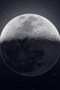 1080x1920 Dark Moon 8k