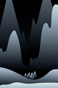 Dark Night Minimalist 4k