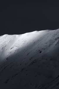 1125x2436 Dark Night Mountains 4k