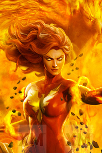 1080x1920 Dark Phoenix Art