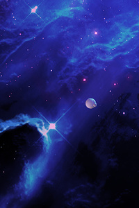 1440x2560 Dark Realm Planets 4k