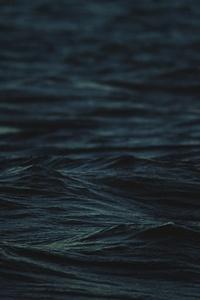 750x1334 Dark Sea Waves 4k