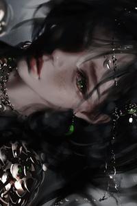 540x960 Dark Shadow Anime Girl 4k
